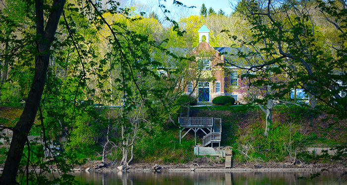 TTA SChool Building on Delaware River