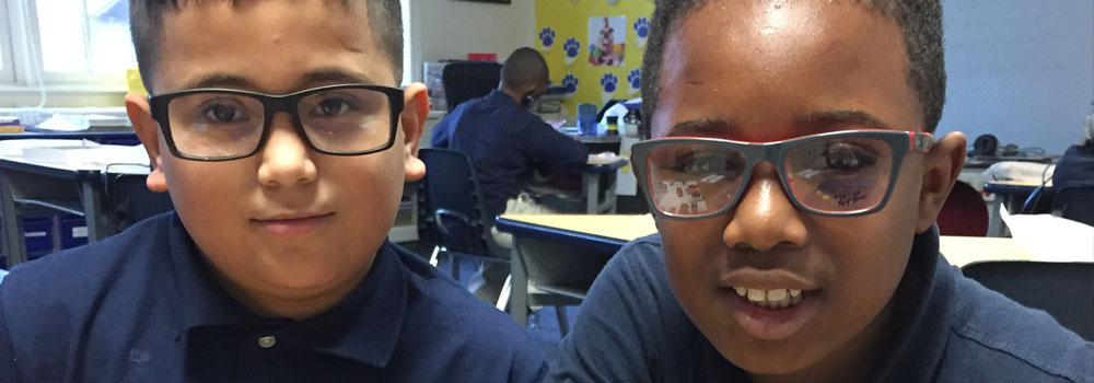 Two male elementary students at Titusville Academy - private special ed school Titusville NJ Monmouth County
